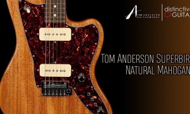 Tom Anderson Raven Superbird | Natural Mahogany w/ P90's