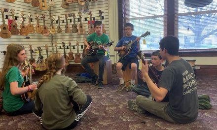 Michigan Academy of Folk Music Visits Elderly Instruments