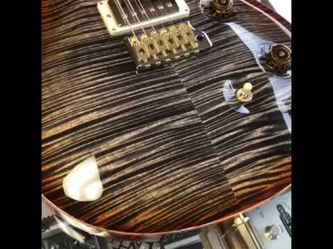 PRS Guitars Wood Library Custom 24 in Burnt Maple Leaf with artist package