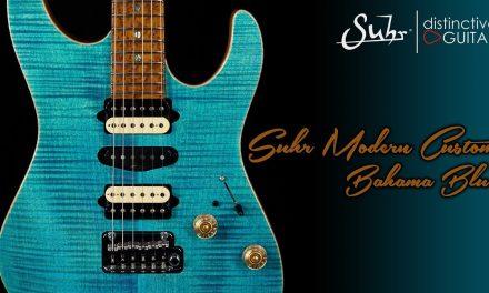 Suhr Modern Custom | Bahama Blue with a 5A Birdseye Neck