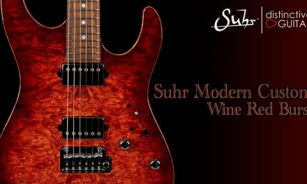 Suhr Modern Custom | Wine Red Burst Waterfall Burl Top