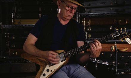 The Kinks-Dave Davies 1958 Gibson Flying V Korina Solid Body Electric Guitar