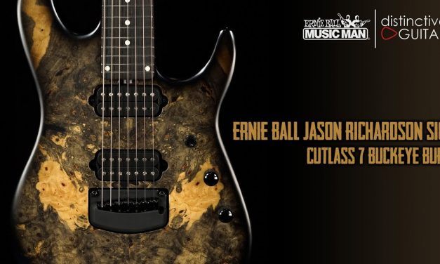 Ernie Ball Music Man Jason Richardson Signature Cutlass 7 String | Buckeye Burl