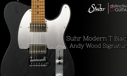 Suhr Modern T Andy Wood Signature 24 Fret | Torched Swamp Ash Black