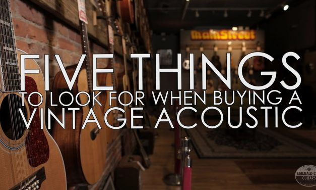 5 Things to Look For When Buying a Used Acoustic Guitar