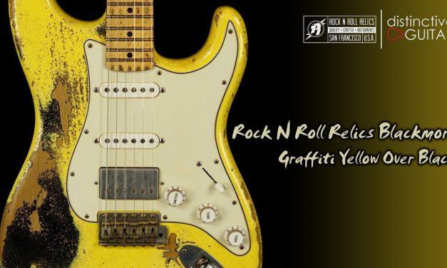 Rock N Roll Relics Blackmore | Graffiti Yellow Over Black