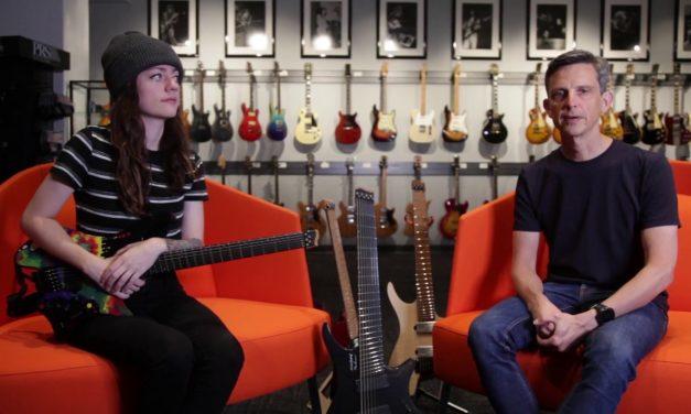 Sarah Longfield and Ola Strandberg Talking Gear at The Music Zoo!
