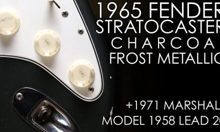 """Pick of the Day"" – 1965 Fender Stratocaster Charcoal Frost Metallic and 1971 Marshall 1958 Lead 20"