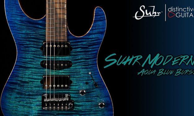 Suhr Modern Custom | Aqua Blue Burst Flame