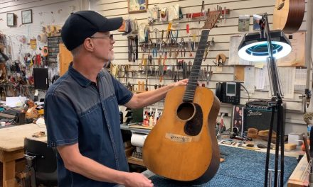 "In The Shop, ""Replacing the Bridge on a 1941 Martin D-18"" 