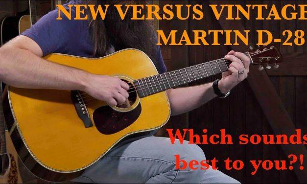 1963 Martin D-28 *Versus* New Martin D-28 Authentic 1937 Aged