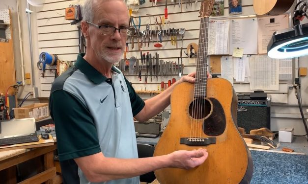 In The Shop: Making a Fossilized Walrus Tooth Nut for a 1941 Martin D-18 | Elderly Instruments