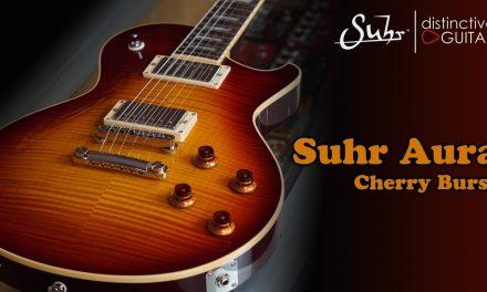 Suhr Aura Singlecut | Cherry Burst Flame Top