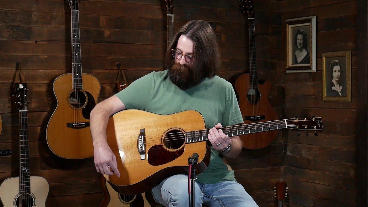 Bourgeois D Custom – Aged Tone Adirondack & Fiddleback Mahogany #8628 Played by Graham Curry