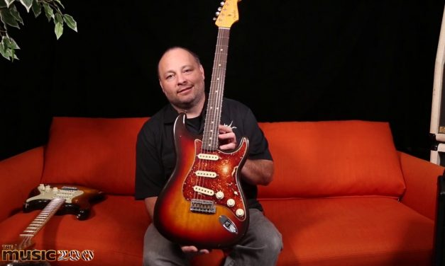 Fender Custom Shop Masterbuilder Paul Waller with his Korina '63 Strat!