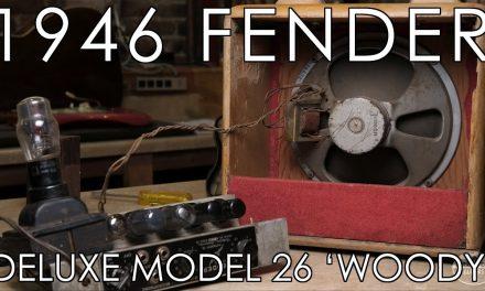 Leo Fender's personal 1946 Fender Deluxe Model 26 'Woody' amp!