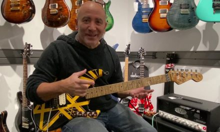 The EVH Bumblebee Replica Guitar Up Close and Personal at The Music Zoo!