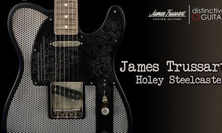 James Trussart Holey Steelcaster | Silver & Black