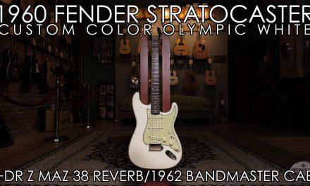 """Pick of the Day"" – 1960 Fender Strat Olympic White, DrZ Maz 38 Reverb / 1962 Fender Bandmaster Cab"