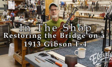 In The Shop: Restoring the Bridge on a 1913 Gibson F-4 Mandolin | Elderly.com