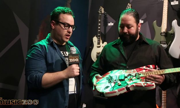 NAMM 2020: The New EVH Stripe Series Frankie Relic Guitar In Action!
