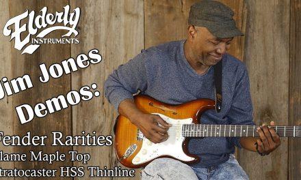 Jim Demos the Fender Rarities Flame Maple Top Stratocaster HSS Thinline @ Elderly.com