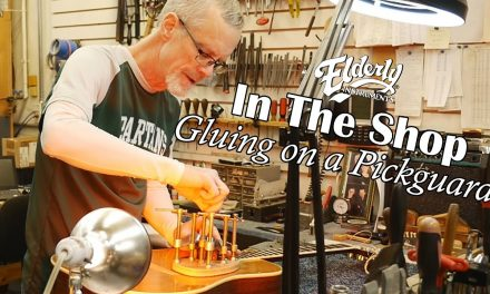 Gluing the Pickguard on a Vintage Martin Guitar | Elderly Instruments Repair Shop