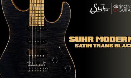 Suhr Modern Custom HSS | Satin Trans Black NAMM Top
