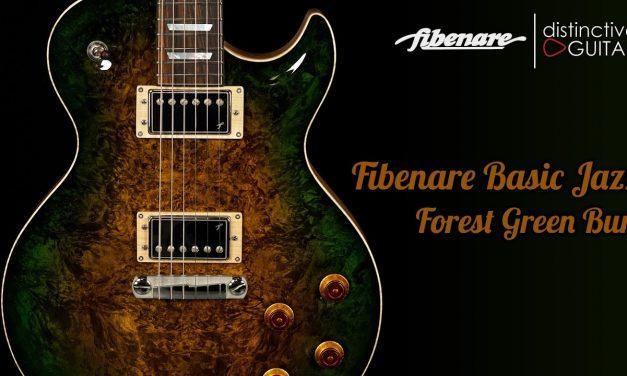 Fibenare Basic Jazz Singlecut   Forest Green Burl NAMM Guitar