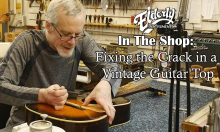 In The Shop: Fixing the Crack in a Vintage Guitar Top | Elderly Instruments