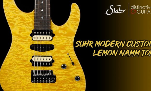Suhr Modern Custom | Lemon Yellow Quilt NAMM Top