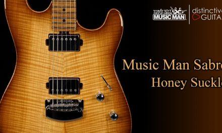 Ernie Ball Music Man Sabre | Honey Suckle Carve Top