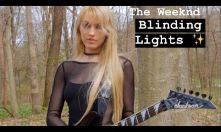 Blinding Lights- The Weeknd- Metal Guitar Cover by Emily Hastings