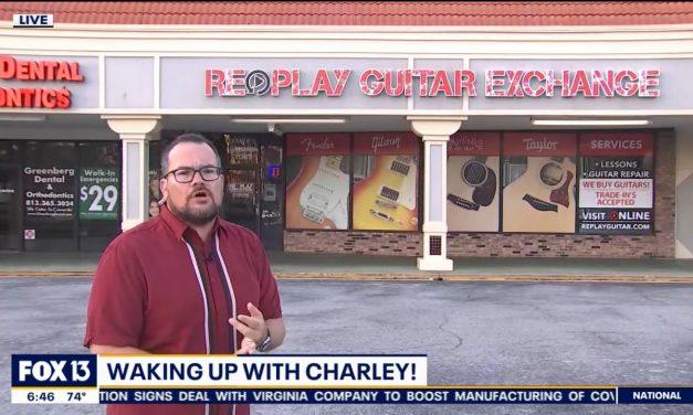Charley Belcher WTVT 13 at Replay Guitar Exchange 5.20.20