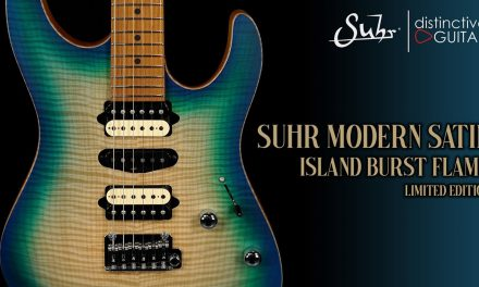 Suhr Modern Satin Limited Edition | Island Burst Flame Top