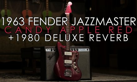 """""""Pick of the Day"""" – 1963 Fender Jazzmaster Candy Apple Red and 1980 Deluxe Reverb"""
