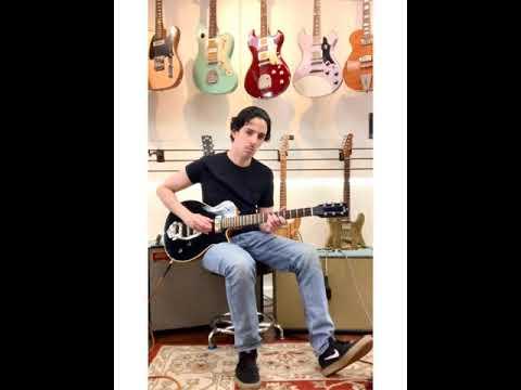 Grez Guitars Blacktop Old Growth Redwood/Mahogany Mendocino, with a TK Smith Vibrato.