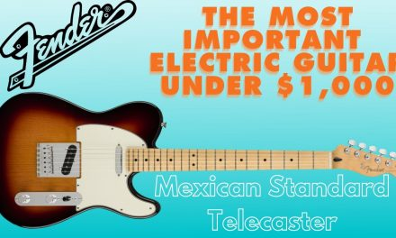 The Mexican Made Fender Telecaster Standard is the most important guitar under $1,000