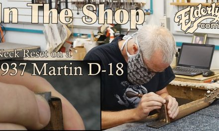In The Shop: Neck Reset on a 1937 Martin D-18   Elderly.com