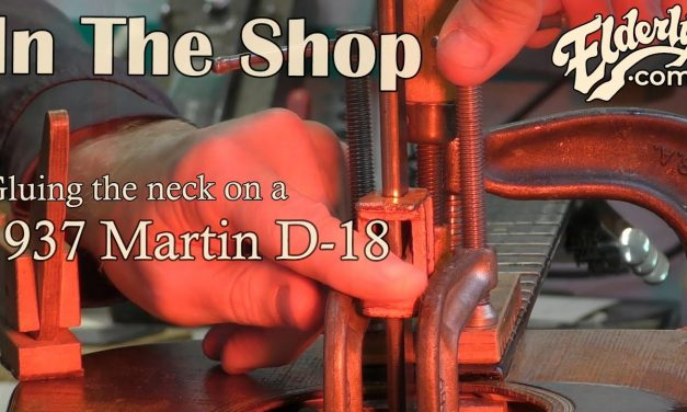 In The Shop: Gluing the Neck on a 1937 Martin D-18 | Elderly.com