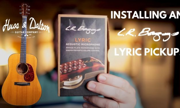 How to install an acoustic guitar pickup. Putting an @LR Baggs Lyric in my Huss & Dalton TDM.