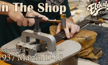 In The Shop: Refretting a 1937 Martin D-18 | Elderly.com