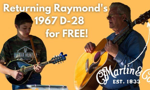 Returning an All Original 1967 @Martin Guitar D-28 to Raymond, the original owner!