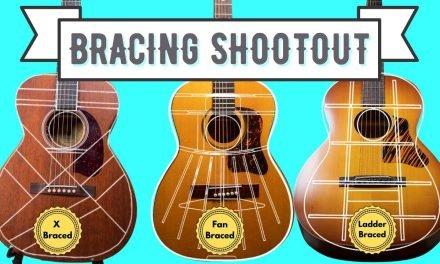 Acoustic Guitar Bracing Shootout: X Bracing vs Fan Bracing vs Ladder Bracing