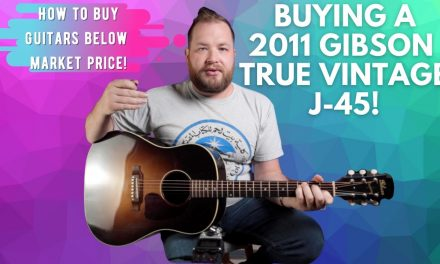 Buying a @Gibson TV J-45 True Vintage on the darkest day of the year