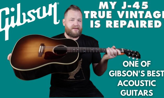 Picking up my Gibson J-45 True Vintage from the Fret Boss
