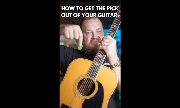 How to get a pick out of your guitar! Short!