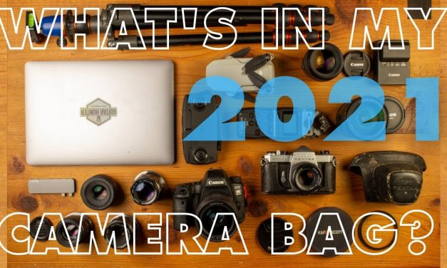 What's in my camera bag 2021? Gear to make Guitar Hunter videos explained.