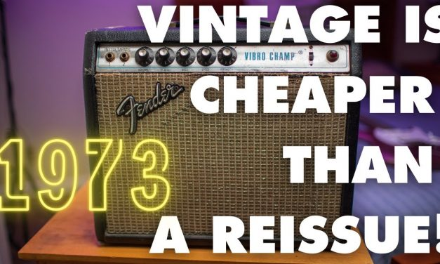 You can buy an original 1973 Fender Vibro Champ cheaper than a reissue, but should you though?