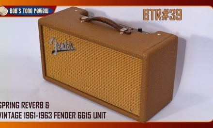 BTR#39 Spring Reverb and Vintage 1961-1963 Fender 6G15 Unit